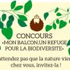 """PROLONGATION : Concours """"Mon balcon, Refuge pour la biodiversité"""""""
